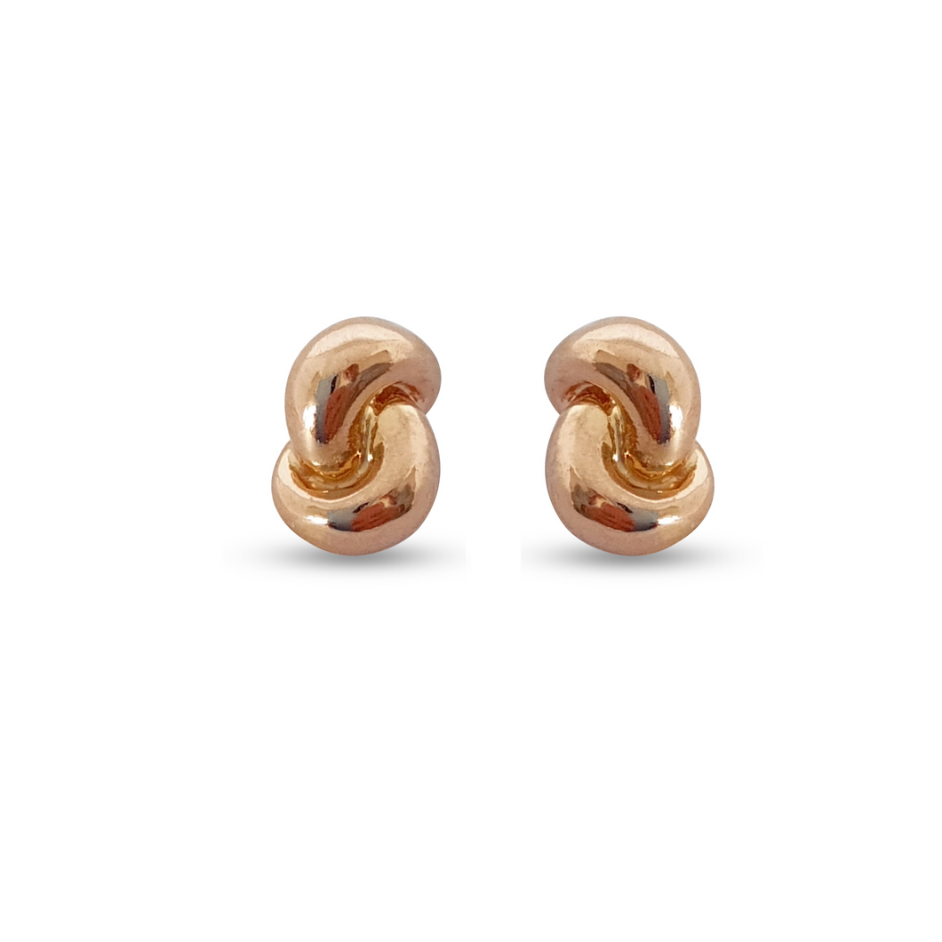 Mini Knot Earrings Plain Gold: