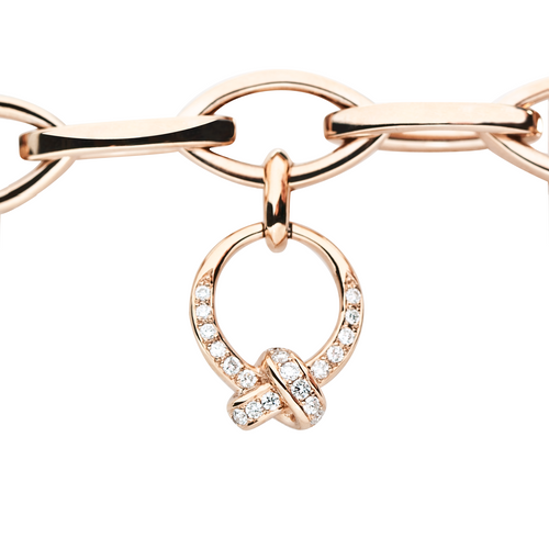 Pink Gold & Diamonds The Love Knot Charm