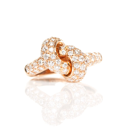 The Love Knot Ring - Pink Gold & Diamond