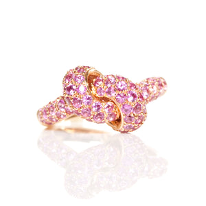 The Love Knot Ring - Pink Gold & Pink Sapphire