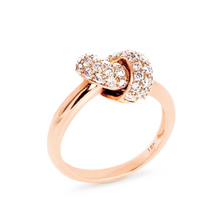 Load image into Gallery viewer, The Love Knot Ring  - Pink Gold & Diamond on Knot
