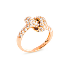 Load image into Gallery viewer, The Love Knot Ring - Pink Gold & Diamond