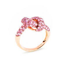 Load image into Gallery viewer, The Love Knot Ring - Pink Gold & Pink Sapphire