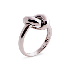 The Love Knot Ring - White Gold