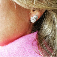 Load image into Gallery viewer, XL-Love Knot Earrings- White Gold & Diamond