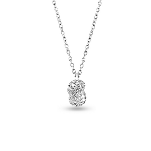 Mini Knot Pendant in White Gold