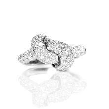 Load image into Gallery viewer, The Love Knot Ring - White Gold & Diamond