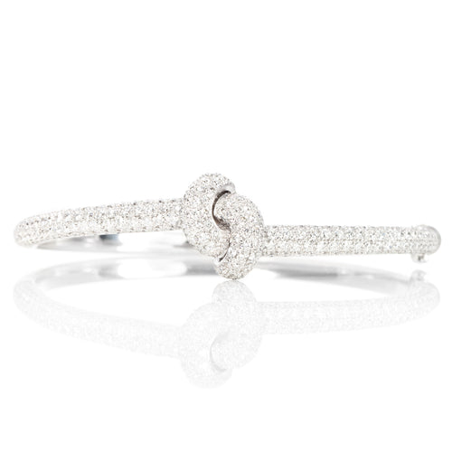 The Love Knot Bracelet - White Gold & Diamond