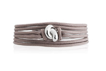 Load image into Gallery viewer, The Love Knot Bracelet - White Gold on Silk