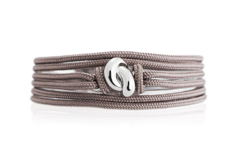 The Love Knot Bracelet - White Gold on Silk