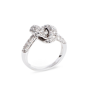 The Love Knot Ring - White Gold & Diamond