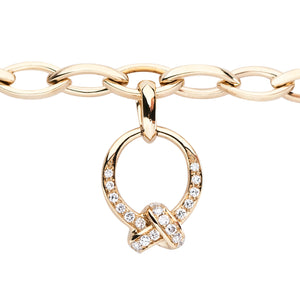 Yellow Gold & Diamonds The Love Knot Charm