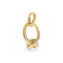 Load image into Gallery viewer, Yellow Gold & Diamonds The Love Knot Charm