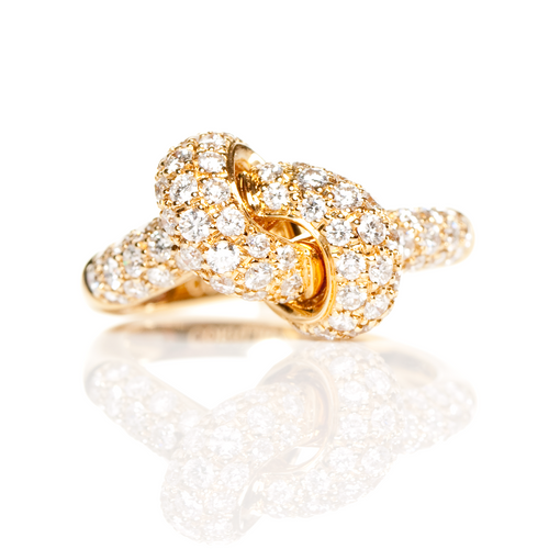 The Love Knot Ring - Yellow Gold & Diamond