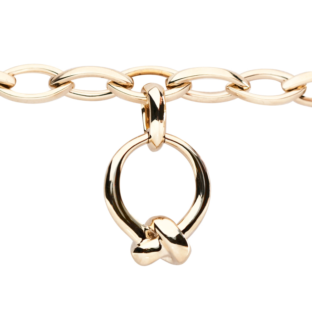 Plain Yellow Gold The Love Knot Charm