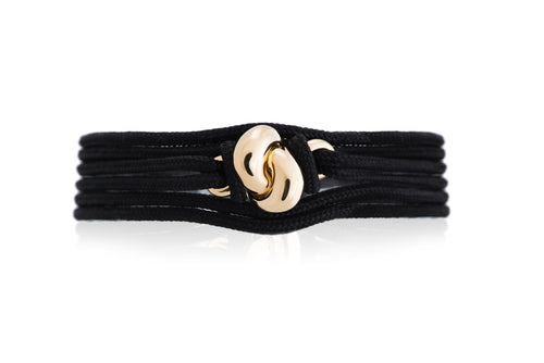 The Love Knot Bracelet - Yellow Gold on Silk