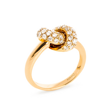 Load image into Gallery viewer, The Love Knot Ring  - Yellow Gold & Diamond on Knot
