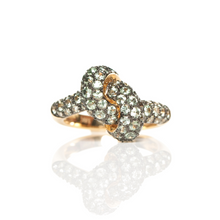 Load image into Gallery viewer, The Love Knot Ring - Yellow Gold & Green Sapphire