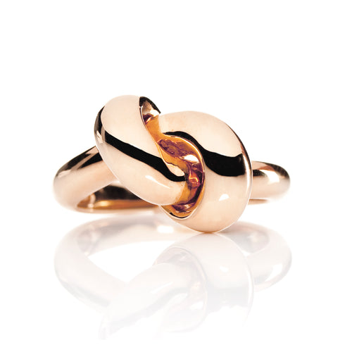 The Love Knot Ring - Pink Gold