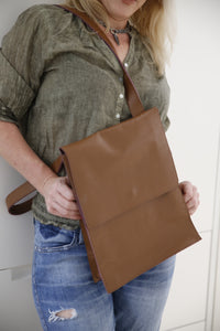Red Loam (brown) crossbody Messenger Bag