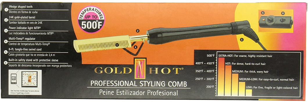 Gold 'N Hot 24K Gold pressing and Styling Comb