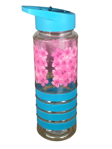 Hibiscus Light Blue 750ml Plastic Water Bottle