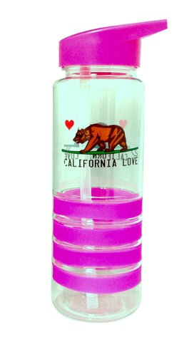 California Love Pink 750ml Plastic Water Bottle