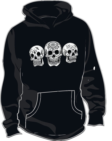 Thick Hoodie w/ 3 SKULL design