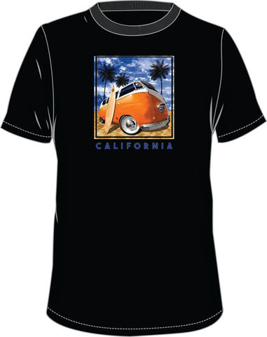 T-Shirt w/ VW Bus Surfboard design