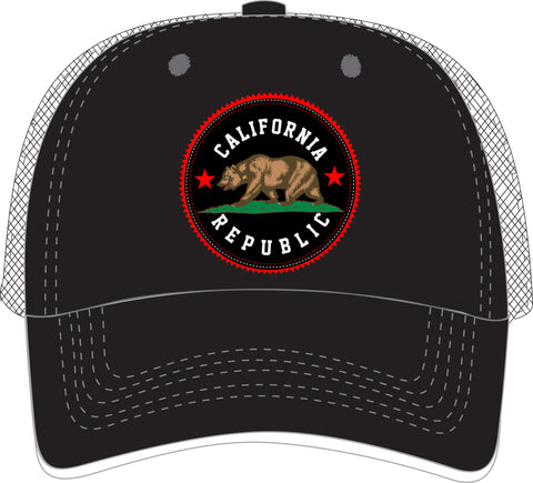 Trucker Hat w/ CA Bear design