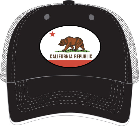 Trucker Hat w/ CA Flag design