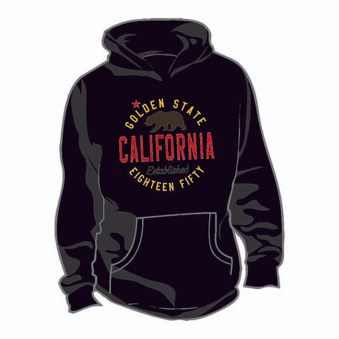 Thick Hoodie w/ Plush California est. 1850 design