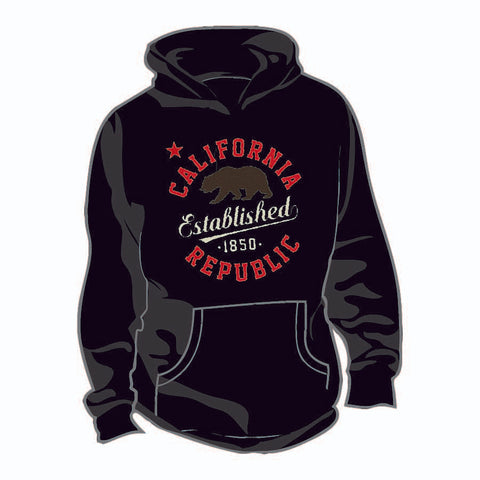 Thick Hoodie w/ Plush California bear est. 1850 design