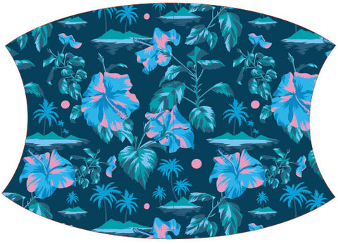 Face Mask Floral Hawaiian