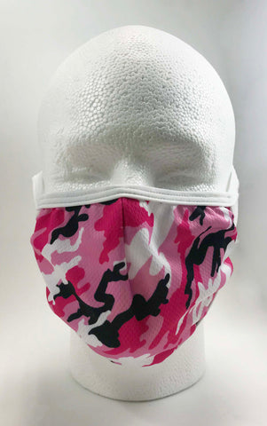 Face Mask w/ Camouflage Pink design