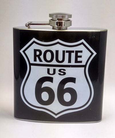 Route 66 Stainless Steel 6 oz Flask
