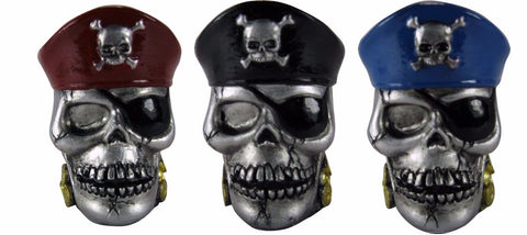Ceramic Pirate Skull Shot Glass Set of 3