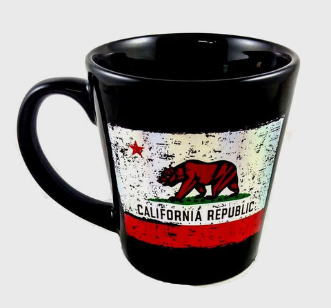 California Distressed Foil Flag Mug