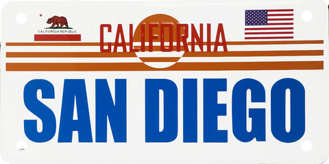 San Diego Aluminum Novelty License Plate