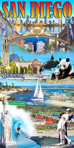 San Diego Collage Beach Towel
