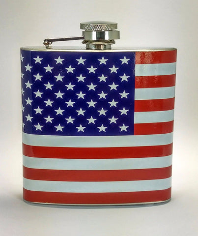 USA Flag Stainless Steel 6 oz Flask
