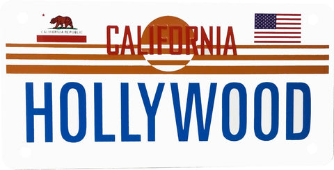 Hollywood Aluminum Novelty License Plate