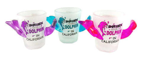 Drink Like a Dolphin in California Shot Glass Set of 3