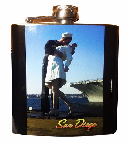 San Diego Sailor Nurse Stainless Steel 6 oz Flask