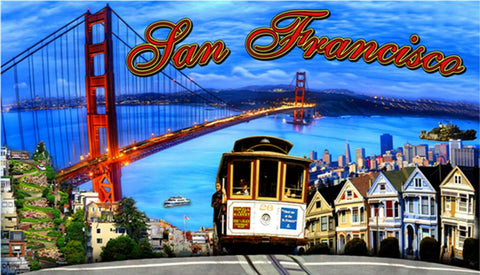 San Francisco Collage Beach Towel
