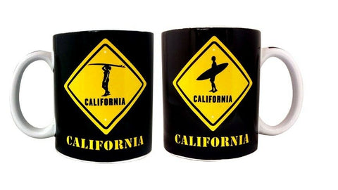 California Surfer Crossing Mug
