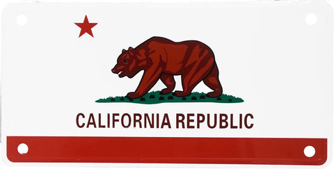 California Flag Aluminum Novelty License Plate