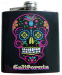 Day of the Dead Stainless Steel 6 oz Flask