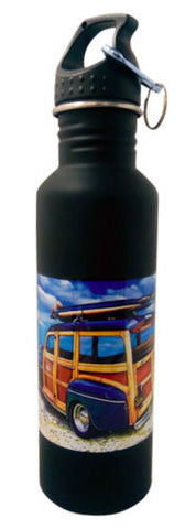 California Woody 750ml Aluminum Water Bottle