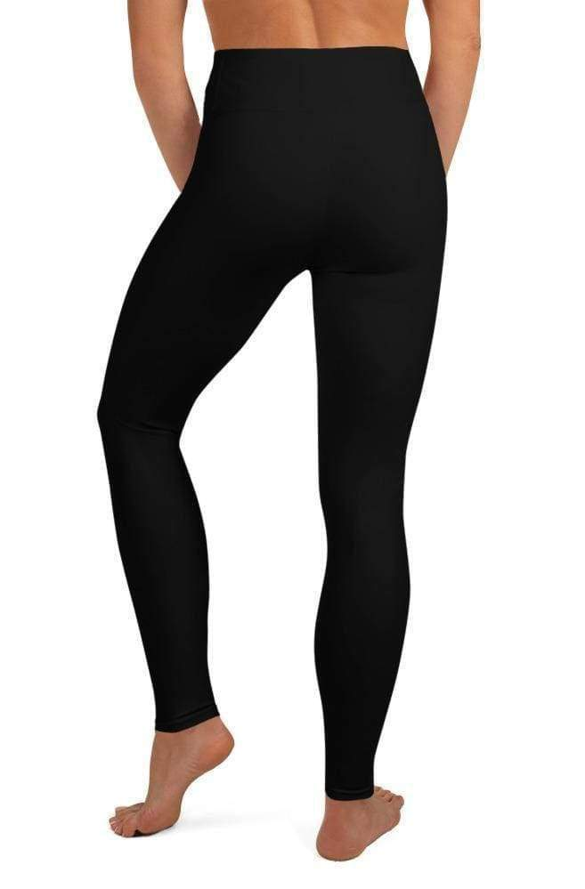 ELEGANT BLACK HIGH WAIST LEGGINGS - Be Atletic
